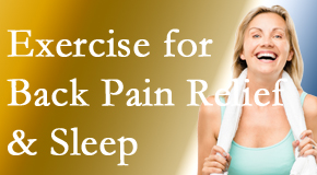 Manahawkin Chiropractic Center shares recent research about the benefit of exercise for back pain relief and sleep.