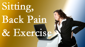 Manahawkin Chiropractic Center encourages less sitting and more exercising to combat back pain and other pain issues.