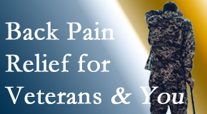 Manahawkin Chiropractic Center treats veterans with back pain and PTSD and stress.