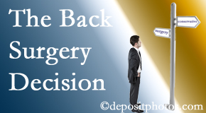 Manahawkin back surgery for a disc herniation is an option to be carefully studied before a decision is made to proceed.