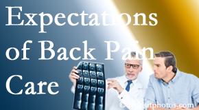 The pain relief expectations of Manahawkin back pain patients influence their satisfaction with chiropractic care. What's realistic?