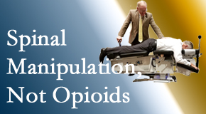 Chiropractic spinal manipulation at Manahawkin Chiropractic Center is worthwhile over opioids for back pain control.