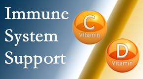 Manahawkin Chiropractic Center shares details about the benefits of vitamins C and D for the immune system to fight infection.