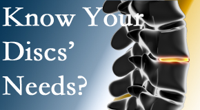 Your Manahawkin chiropractor thoroughly understands spinal discs and what they need nutritionally. Do you?