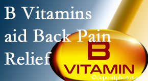 Manahawkin Chiropractic Center may include B vitamins in the Manahawkin chiropractic treatment plan of back pain sufferers.