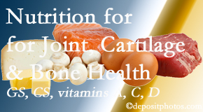 Manahawkin Chiropractic Center describes the benefits of vitamins A, C, and D as well as glucosamine and chondroitin sulfate for cartilage, joint and bone health.