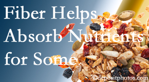 Manahawkin Chiropractic Center shares research about benefit of fiber for nutrient absorption and osteoporosis prevention/bone mineral density enhancement.