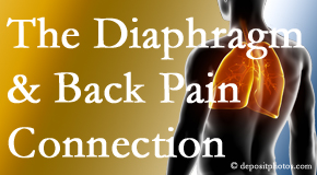 Manahawkin Chiropractic Center knows the relationship of the diaphragm to the body and spine and back pain.