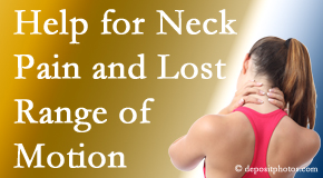 Manahawkin Chiropractic Center helps neck pain patients with limited spinal range of motion find relief of pain and improved motion.