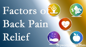 A few Manahawkin back pain relief factors Manahawkin Chiropractic Center considers in patient care are exercise, balance, and movement.