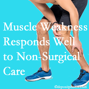 Manahawkin chiropractic non-surgical care often improves muscle weakness in back and leg pain patients.