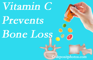 Manahawkin Chiropractic Center may suggest vitamin C to patients at risk of bone loss as it helps prevent bone loss.