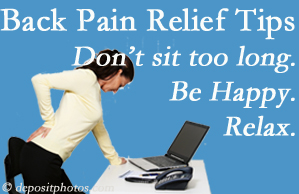 Manahawkin Chiropractic Center reminds you to not sit too long to keep back pain at bay!