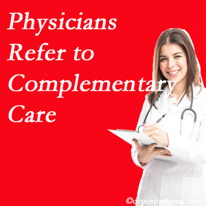 Manahawkin Chiropractic Center [presents how medical physicians are referring to complementary health approaches more, particularly for chiropractic manipulation and massage.