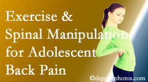 Manahawkin Chiropractic Center uses Manahawkin chiropractic and exercise to relieve back pain in adolescents.