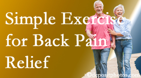 Manahawkin Chiropractic Center suggests simple exercise as part of the Manahawkin chiropractic back pain relief plan.