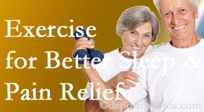 Manahawkin Chiropractic Center incorporates the recommendation to exercise into its treatment plans for chronic back pain sufferers as it improves sleep and pain relief.