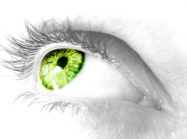 healthy eye due to essential fatty acids