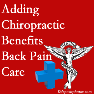 Added Manahawkin chiropractic to back pain care plans works for back pain sufferers.