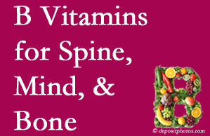 Manahawkin bone, spine and mind benefit from B vitamin intake and exercise.