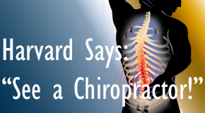 Manahawkin chiropractic for back pain relief urged by Harvard