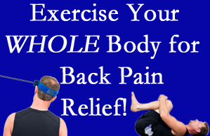 Manahawkin chiropractic care includes exercise to help enhance back pain relief at Manahawkin Chiropractic Center.