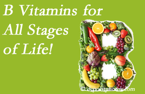 Manahawkin Chiropractic Center urges a check of your B vitamin status for overall health throughout life.
