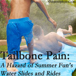 Manahawkin Chiropractic Center offers chiropractic manipulation to ease tailbone pain after a Manahawkin water ride or water slide injury to the coccyx.