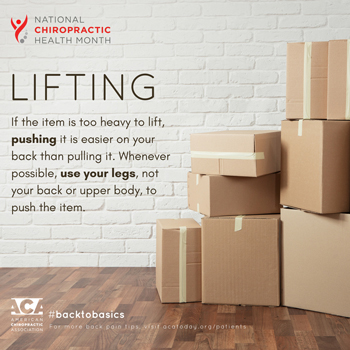 Manahawkin Chiropractic Center advises lifting with your legs.