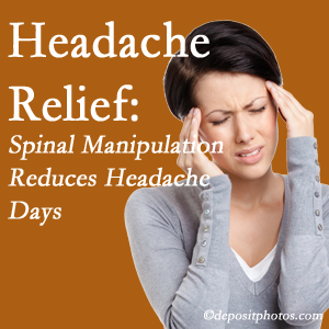 Manahawkin chiropractic care at Manahawkin Chiropractic Center may reduce headache days each month.