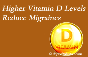 Manahawkin Chiropractic Center shares a new study that higher Vitamin D levels may reduce migraine headache incidence.
